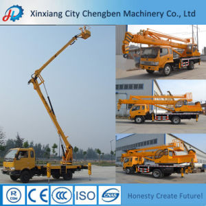 7ton Truck Boom Crane with Aerial Work Basket pictures & photos