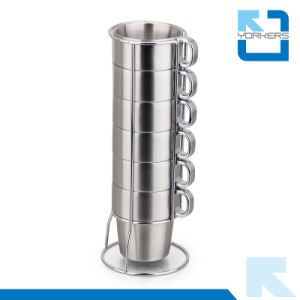 Double Layer Heat Insulation Stainless Steel Cups Coffee Cups pictures & photos