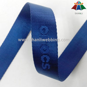 25mm Blue Color Nylon Jacquard Webbing pictures & photos