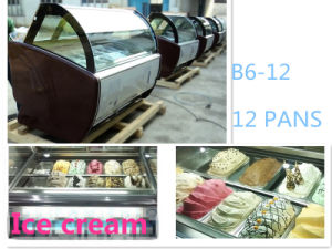 Gelato Ice Cream Showcase Direct Sale pictures & photos