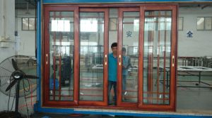 latest Design Factory Price Pattern Glass Aluminum Alloy Door pictures & photos