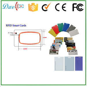 RFID Clamshell Card 125kHz PVC Material 1.8mm Thickness Em4200 Long Range pictures & photos