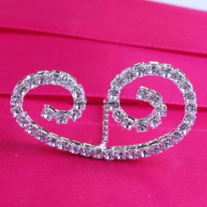 Rhinestone French Font Letter a to Z for Bridal Bouquet Wedding Bridal Bouquet Jewelry Pin pictures & photos