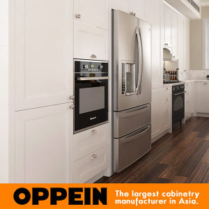 Traditional White PVC Wooden Kitchen Cabinet (OP16-PVC05) pictures & photos