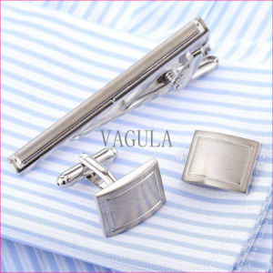 VAGULA Laser De Corbata Business Tie Bar Brass Tie Pin Cufflinks Tie Clip Set 36 pictures & photos