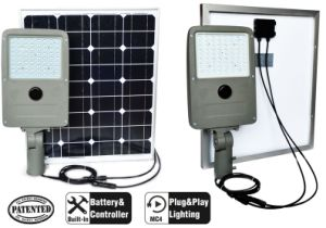 130lm/W High Lumen Easy Installation All in Two 45W LED Solar Parking Light pictures & photos