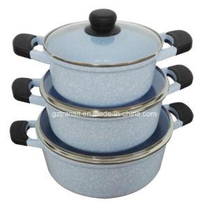 Stone-Look Ceramic Casting Aluminum Casseroles Sauce Pots