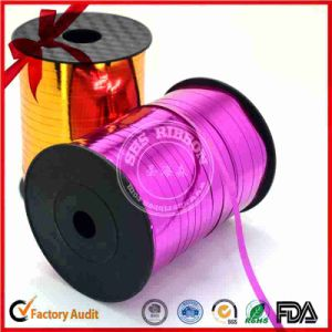 Double Sided Printed Satin Curly Ribbon pictures & photos