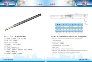 27mm Single Extension Ball Bearing Drawer Slide pictures & photos