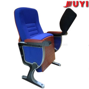 Metal Frame Audience Seat with ABS Material Writing Pad Outdoor Fabric Folding Chair pictures & photos