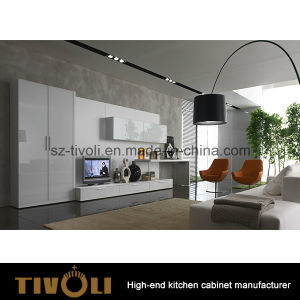 Plain White Lacquer PU Painting Kitchen Cabinet and Kitchen Furniture (AP143) pictures & photos