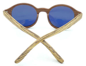 Fqw162877 New Design Round Shape Wooden Material Sunglasses Mirror Lens pictures & photos