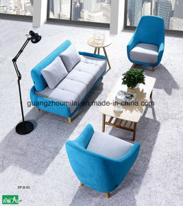 Fashion &Modern Office Furniture Leisure Cashmere Sofa with Wood Leg pictures & photos