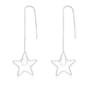 Star Pendant Silver Plated Girls Earrings Made in Yiwu pictures & photos