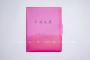 Two Pockets Transparent Color File Folder, A4 File Bag pictures & photos