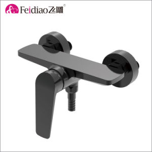Modern Design High Quality Brass Black Single Handle Shower Faucet pictures & photos