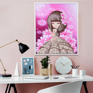 Factory Direct Wholesale Cross Stitch DIY Diamond Painting Canvas Painting K-001 pictures & photos