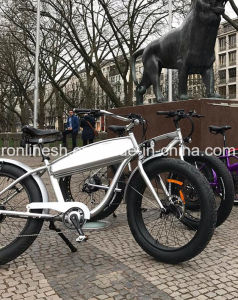 250W/350W/500W Vintage Cruiser E Bike/Classic Cruiser Electric Bicycle/Beach Cruiser Electric Fat Bike/Nostalgia Fat Pedelec/Retro Fat Pedelec /Vintage Fat Bike pictures & photos