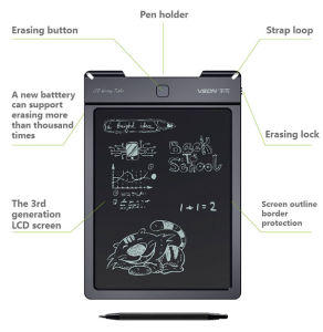 9 Inch LCD Children Writing Pad with Eraser Button pictures & photos