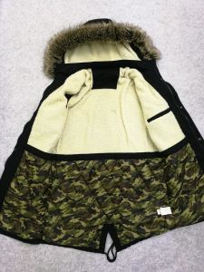 Man High Quality Washing Cotton Coat with Fur Hoody S11 pictures & photos