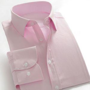 Latest Design Pink Cotton Man Button up Shirt pictures & photos