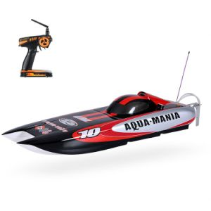 225bl075ap-Original Aqua Mania 1300bp (A) 60km-H High Speed RTR Electric Fiberglass RC Boat with 2.4G Pistol Transmitter pictures & photos