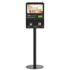 Digital Screen Mobile Phone Charging Stations With 18.5u2032 Tablet Screen