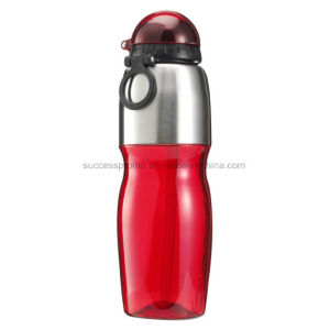 800ml Transparent Plastic & Stainless Steel Sports Bottle pictures & photos