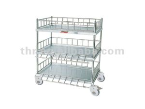 Thr-Mt06 Stainless Steel Trolley for Infusion Bottles with Three Shelves pictures & photos