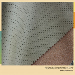 Punching Hole PU Leather pictures & photos