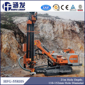 Hfg-55rhs High Efficiency Automatic China Brand Hydraulic DTH Drill Rig pictures & photos