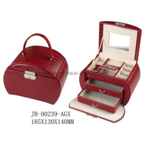 Classic Design Red Croco PU Leather Jewelry Packing Box Jewelry Box