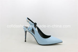 Pointy Fashion High Heels Back Open Lady Sandal Shoes pictures & photos