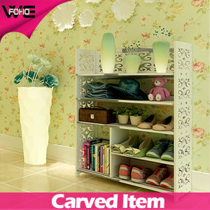 Decorative Wooden Corner White Floating Waterproof Modular Shelving pictures & photos