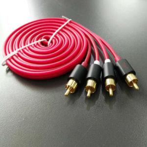 Audio Cable Al Shield RCA Audio Cable Solid Copper pictures & photos