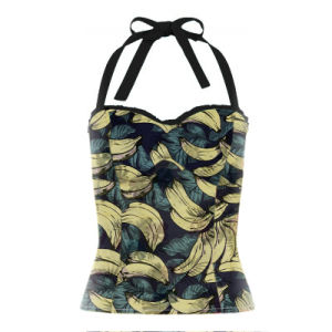 ODM/OEM Latest Designs Woman Tank Top Halter Crop Sexy Club Blouse pictures & photos