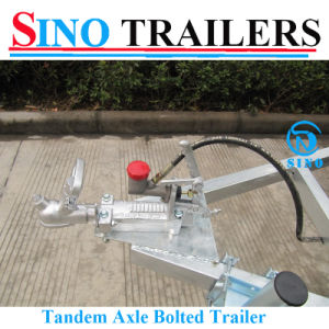 Hot Dipped Galvanized Tandem Box Trailer for Sale