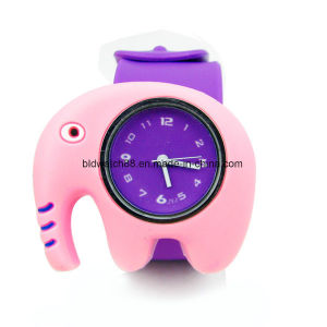 Cute Animal Slap Snap Watch Children Watches Kids Teens Silicone Rubber Wristwatch Slap Watch pictures & photos
