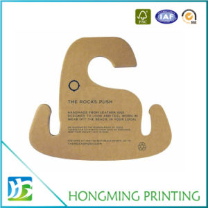 Custom Printed Recycled Paper Hanger for Cloth pictures & photos