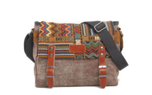 Multiple Color Canvas Embroidery Fabric Student Shoulder Bag (RS- 6007) pictures & photos