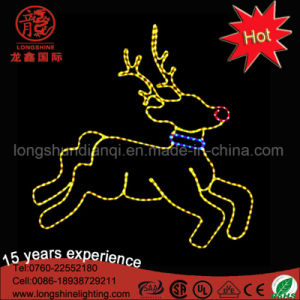 Large 2D Outdoor LED Godlen Yellow Reindeer Motif Christmas Decorative Light pictures & photos