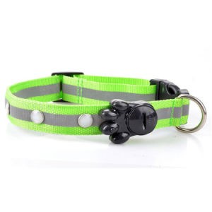 7 Color 2.5cm Nylon Reflective Pet Collar with LED Lights pictures & photos