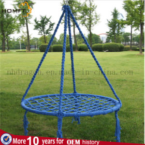 Blue Color Cotton Macrame Hanging Hammock Chair pictures & photos