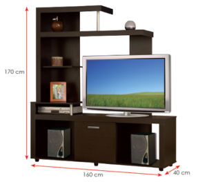Modern MFC Laminated Wooden Cabinet TV Stands (HX-DR261) pictures & photos