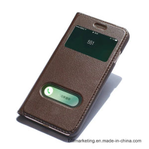 Genuine Flip Leather Mobile Phone Case for iPhone pictures & photos