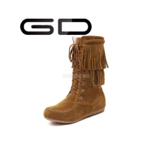 Gdshoe Factory Trendy Snow Boots Lace-up Warm Snow Boots Cheap Warm Snow Boots pictures & photos