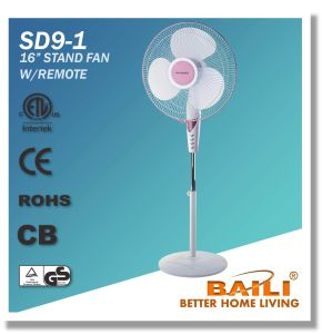 "Hot Sale 16"" Oscillating Cooling Stand Fan with Remote Control pictures & photos"