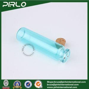 5ml 10ml 20ml Transparent Light Blue Color Glass Cork Bottle Empty Glass Gift Bottle Washing Glass Cork Bottle pictures & photos