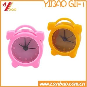 Promotion Gifts Multi-Color Mini Lovely Silicone Alarm Clock pictures & photos