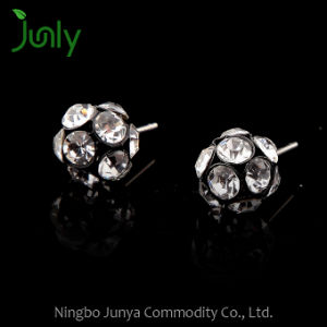 Round Diamond Stud Earrings Silver Stud Bridesmaid Earrings pictures & photos